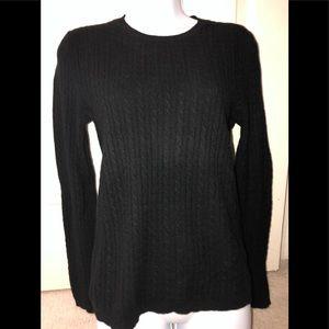 Anne Klein Sport Black 💯 Cashmere Sweater- Sz. S